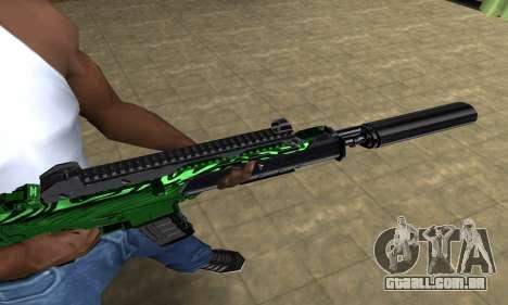 Full Green M4 para GTA San Andreas segunda tela