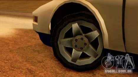 Police Infernus para GTA San Andreas traseira esquerda vista