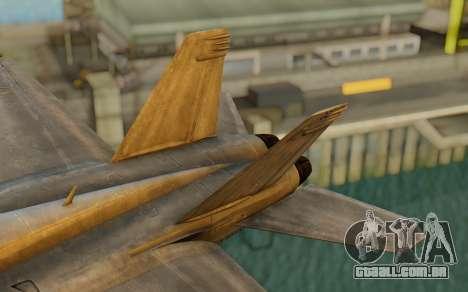 FA-18F Super Hornet BF4 para GTA San Andreas traseira esquerda vista