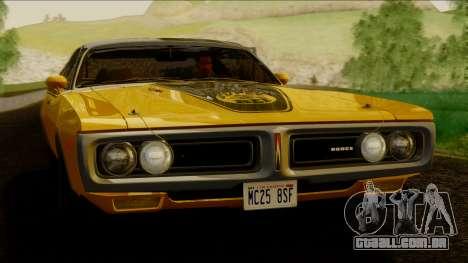 Dodge Charger Super Bee 426 Hemi (WS23) 1971 IVF para GTA San Andreas traseira esquerda vista