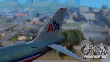 Airbus A320-200 American Airlines (Old Livery) para GTA San Andreas traseira esquerda vista