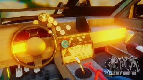 Shelby GT500 Death Race para GTA San Andreas vista interior