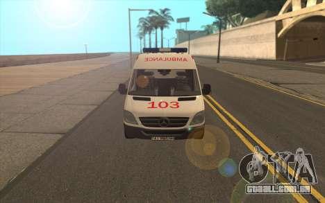 Mercedes-Benz Sprinter Ambulância Ucrânia para GTA San Andreas esquerda vista