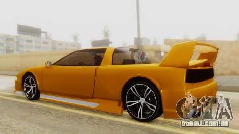 Infernus BMW Revolution with Spoiler para GTA San Andreas traseira esquerda vista