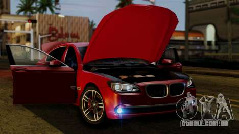 BMW 7 Series F02 2013 para GTA San Andreas vista superior