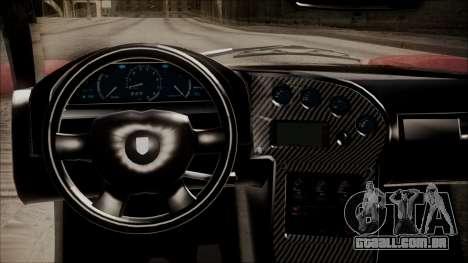GTA 5 Grotti Turismo R IVF para GTA San Andreas vista traseira