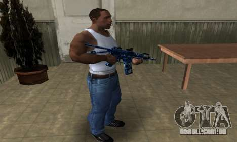 Blue Life M4 para GTA San Andreas terceira tela