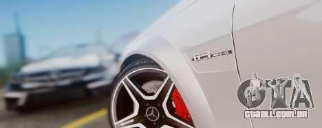 Mercedes-Benz C63 AMG 2013 para GTA San Andreas vista interior