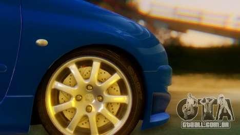Peugeot 206 Full Tuning para GTA San Andreas traseira esquerda vista
