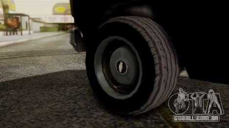 Chevrolet Chevy Van G20 Paraguay Police para GTA San Andreas traseira esquerda vista