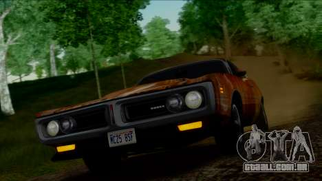 Dodge Charger Super Bee 426 Hemi (WS23) 1971 IVF para GTA San Andreas vista superior