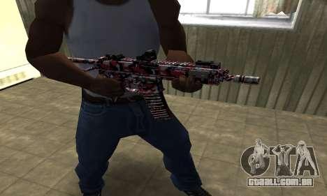 M4 Vermelho Camo para GTA San Andreas segunda tela