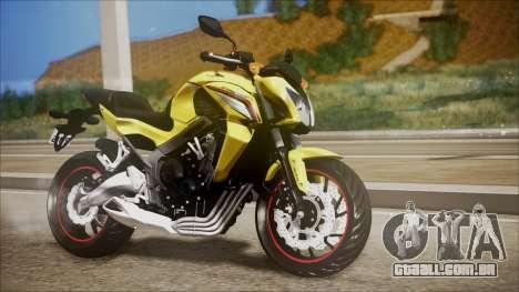 Honda CB650F Amarela para GTA San Andreas