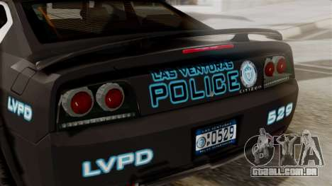 Hunter Citizen from Burnout Paradise Police LV para GTA San Andreas vista traseira