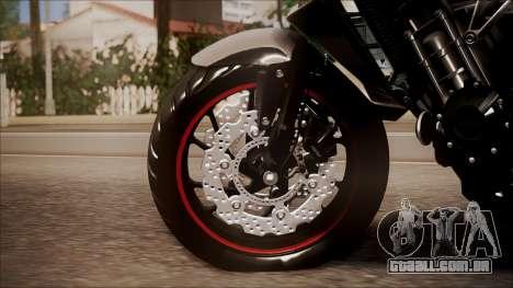 Honda CB650F Pretona para GTA San Andreas traseira esquerda vista