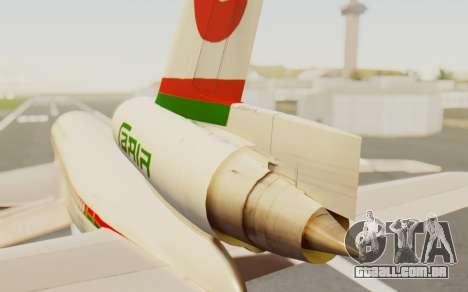 DC-10-30 Biman Bangladesh Airlines para GTA San Andreas traseira esquerda vista