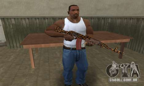 Leopard AK-47 para GTA San Andreas terceira tela