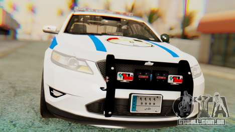 Ford Taurus Iraq Police v2 para GTA San Andreas vista direita