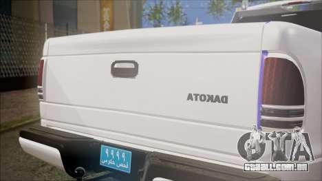 Dodge Dakota Iraqi Police para GTA San Andreas vista traseira