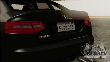 Audi RS6 Civil Drag Version para GTA San Andreas vista interior