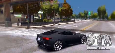 Lexus LF-A 2010 [EPM] para GTA 4 esquerda vista