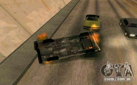 Burning car mod from GTA 4 para GTA San Andreas por diante tela