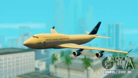 Boeing 747 Argentina Airlines para GTA San Andreas