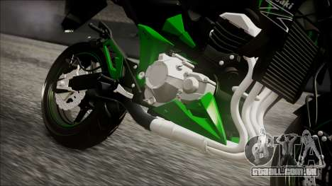 Kawasaki Z800 Monster Energy para GTA San Andreas vista direita