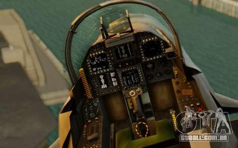 FA-18F Super Hornet BF4 para GTA San Andreas vista traseira