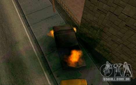 Burning car mod from GTA 4 para GTA San Andreas segunda tela