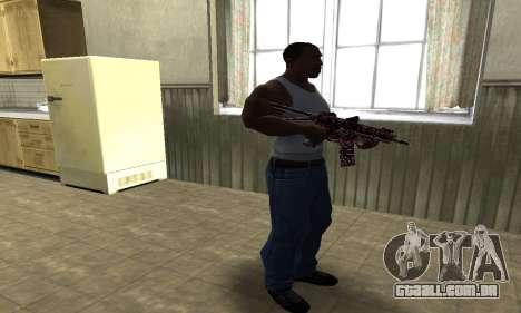 M4 Vermelho Camo para GTA San Andreas terceira tela