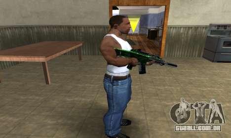 Full Green M4 para GTA San Andreas terceira tela