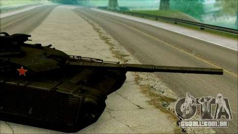 Type 99 BF4 para GTA San Andreas traseira esquerda vista