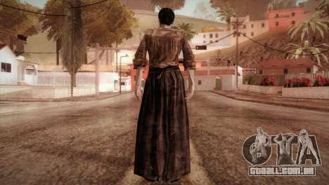 RE4 Isabel without Kerchief para GTA San Andreas terceira tela