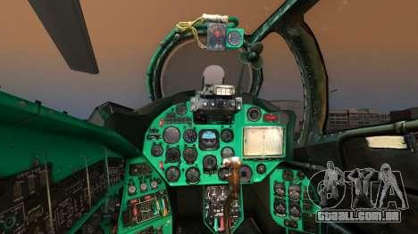 Mil Mi-24W Polish Land Forces para GTA San Andreas vista traseira