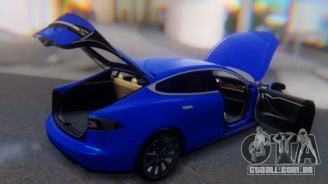 Tesla Model S para GTA San Andreas vista superior