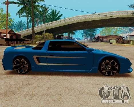 Infernus Lamborghini para GTA San Andreas esquerda vista