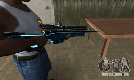 Sniper Blue Snow para GTA San Andreas