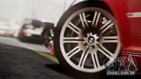 BMW M3 GTR Street Edition para GTA San Andreas vista traseira
