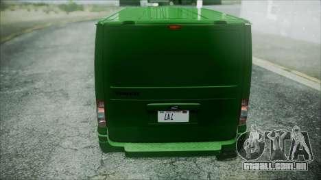 Ford Transit SSV 2011 para GTA San Andreas vista interior