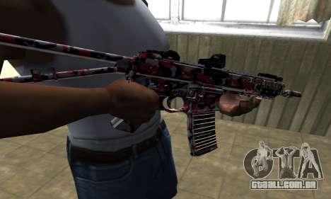 M4 Vermelho Camo para GTA San Andreas