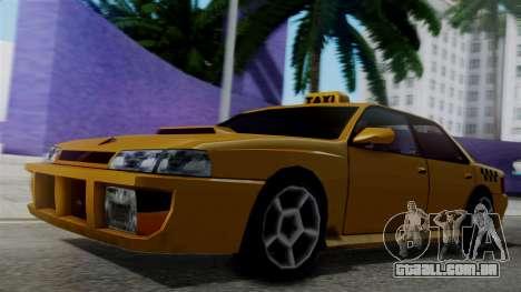 Sultan Taxi para GTA San Andreas traseira esquerda vista