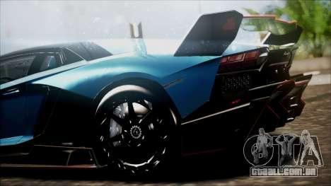 Lamborghini Veneno LP700-4 AVSM para GTA San Andreas traseira esquerda vista