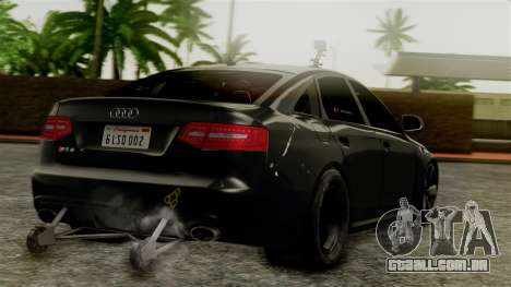 Audi RS6 Civil Drag Version para GTA San Andreas esquerda vista