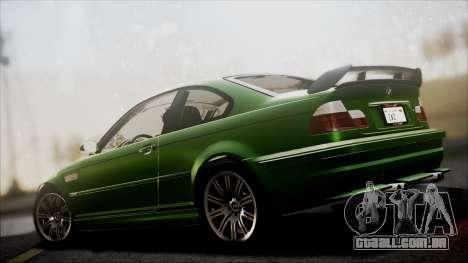 BMW M3 GTR Street Edition para vista lateral GTA San Andreas