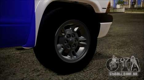 Dodge Dakota Iraqi Police para GTA San Andreas traseira esquerda vista