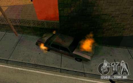 Burning car mod from GTA 4 para GTA San Andreas