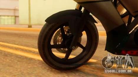 Honda CBR150R K45 para GTA San Andreas traseira esquerda vista