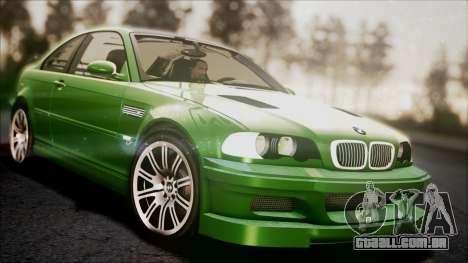BMW M3 GTR Street Edition para GTA San Andreas vista inferior