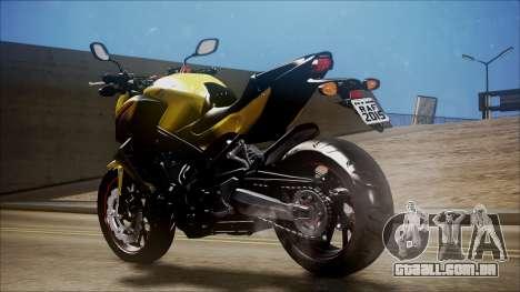 Honda CB650F Amarela para GTA San Andreas esquerda vista